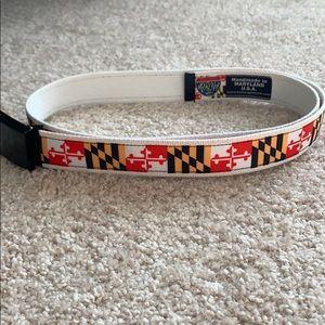 Size 36 Maryland Flag belt